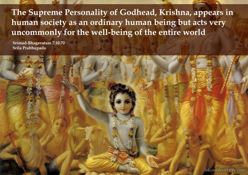 Srila Prabhupada on The Supreme Personality of Godhead, Krishna