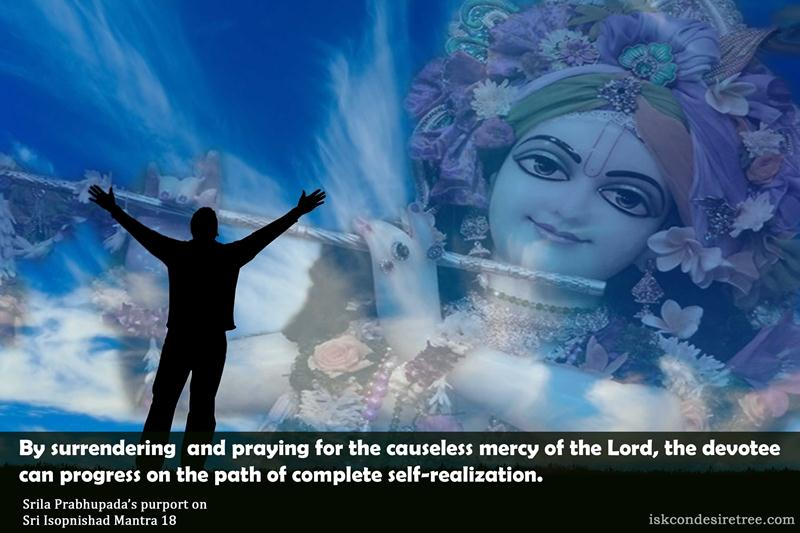Quote by Isopnishad Surrender and Prayers