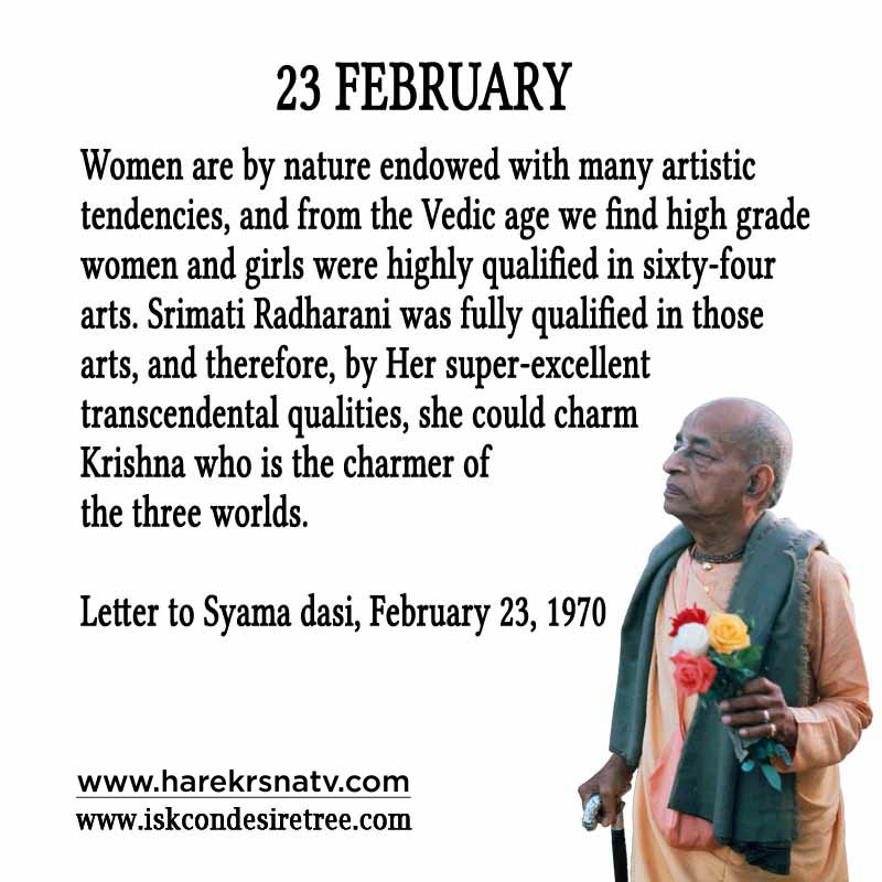 Prabhupada Quotes For The Month of February 23