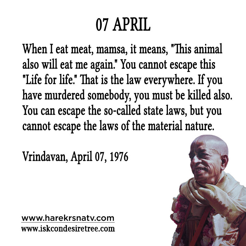 Prabhupada Quotes For The Month of 07 April