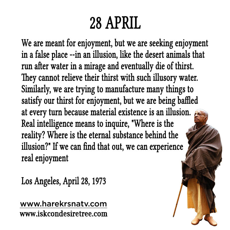 Prabhupada Quotes For The Month of 28 April