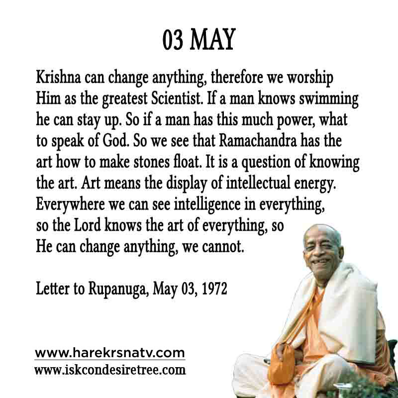 Prabhupada Quotes For The Month of 03 May
