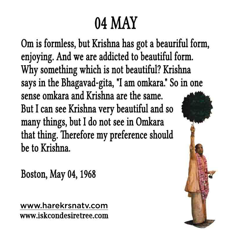 Prabhupada Quotes For The Month of 04 May