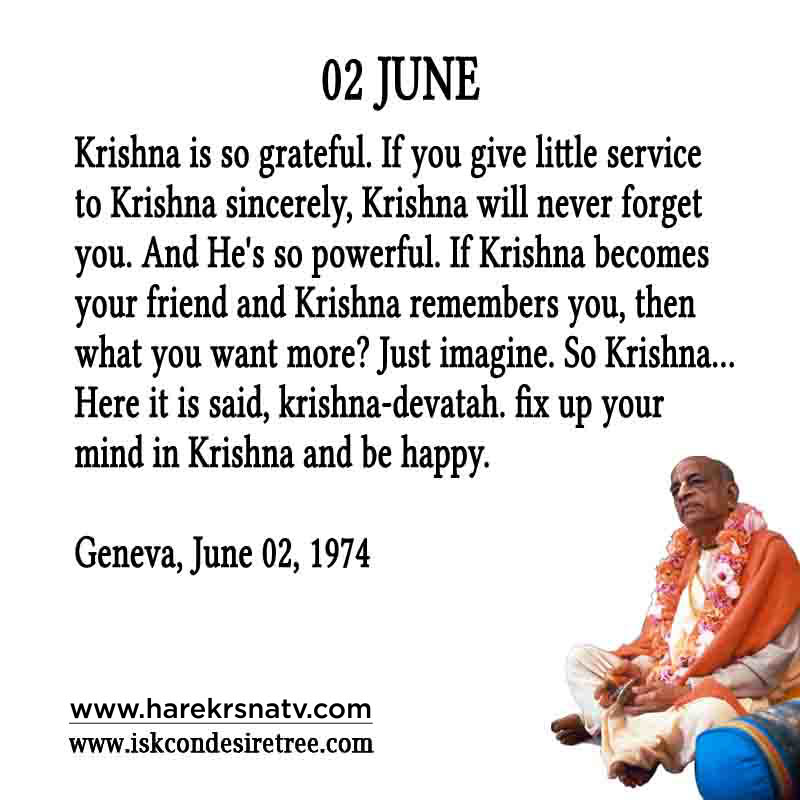 Prabhupada Quotes For The Month of 02 June