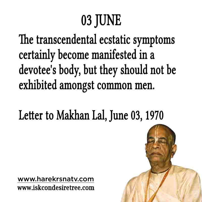 Prabhupada Quotes For The Month of 03 June