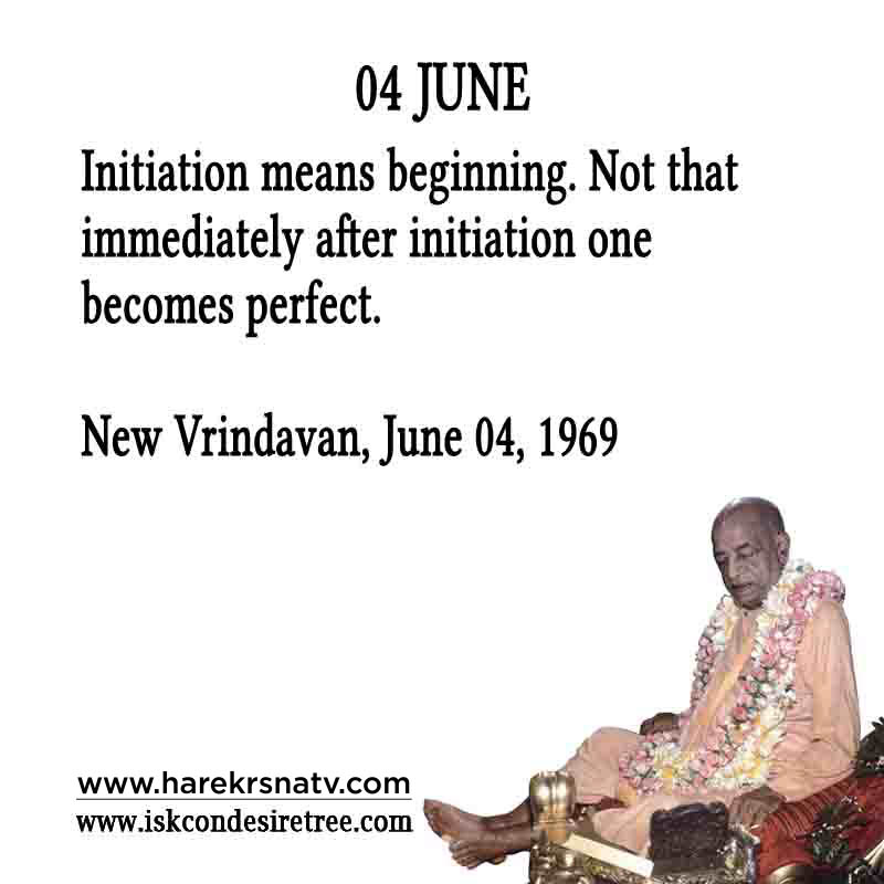 Prabhupada Quotes For The Month of 04 June