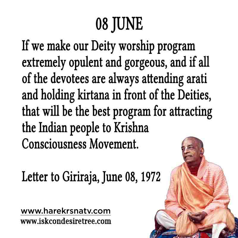 Prabhupada Quotes For The Month of 08 June