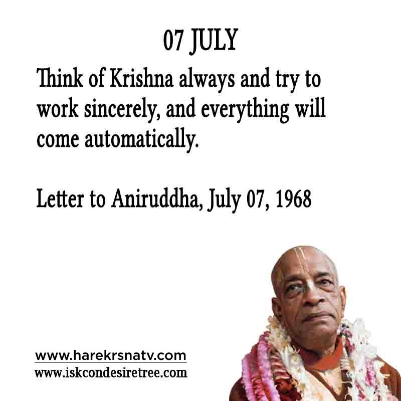Prabhupada Quotes For The Month of 07 July