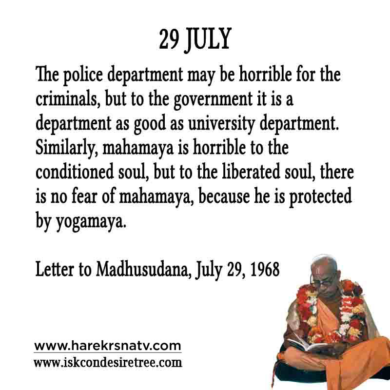 Prabhupada Quotes For The Month of 29 July