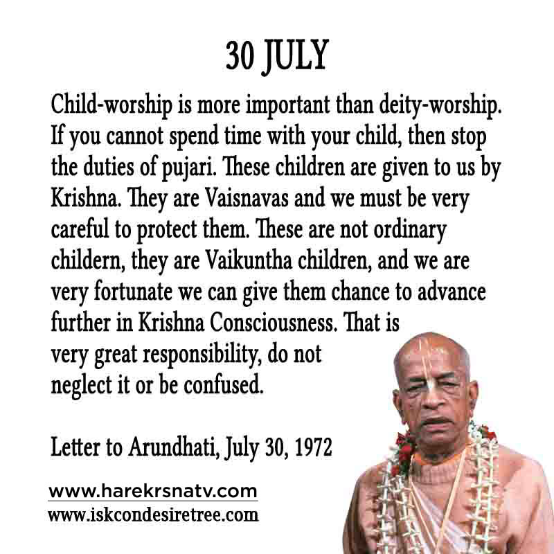 Prabhupada Quotes For The Month of 30 July