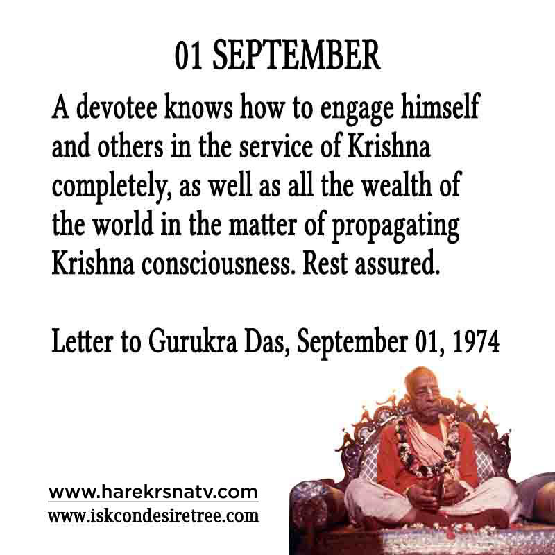 Prabhupada Quotes For The Month of 01 Sep