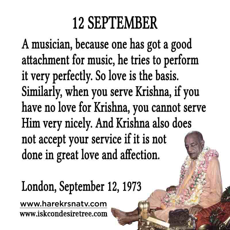 Prabhupada Quotes For The Month of 12 Sep