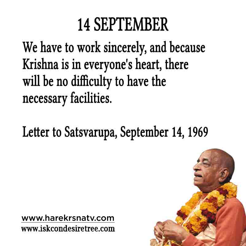 Prabhupada Quotes For The Month of 14 Sep