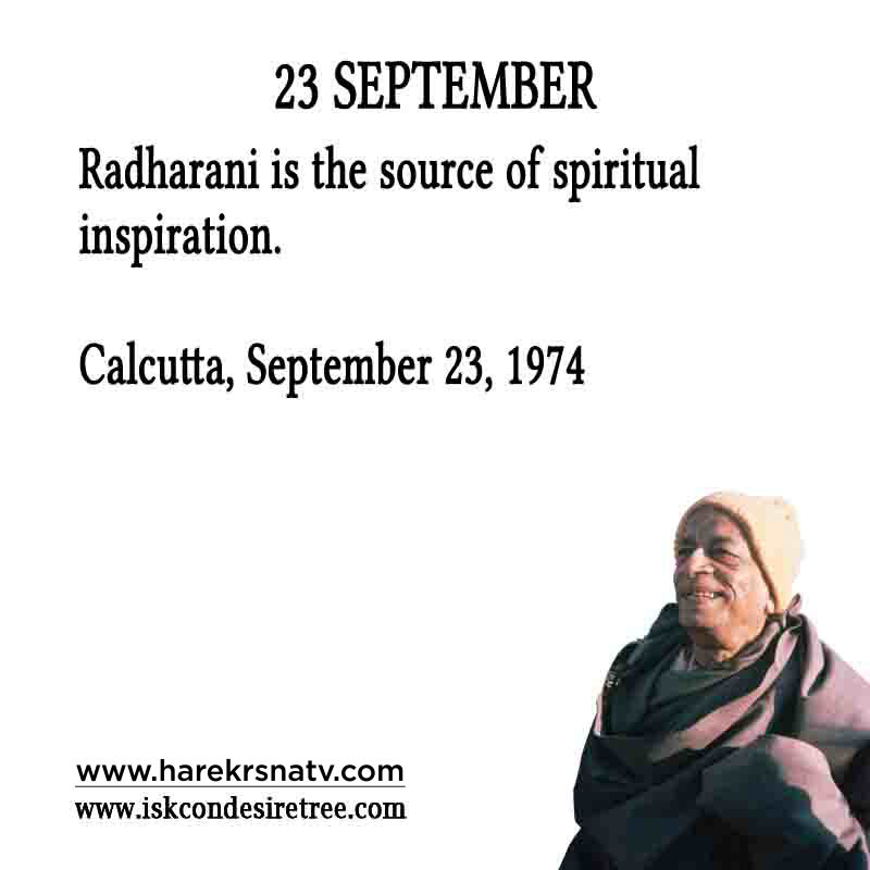 Prabhupada Quotes For The Month of 23 Sep