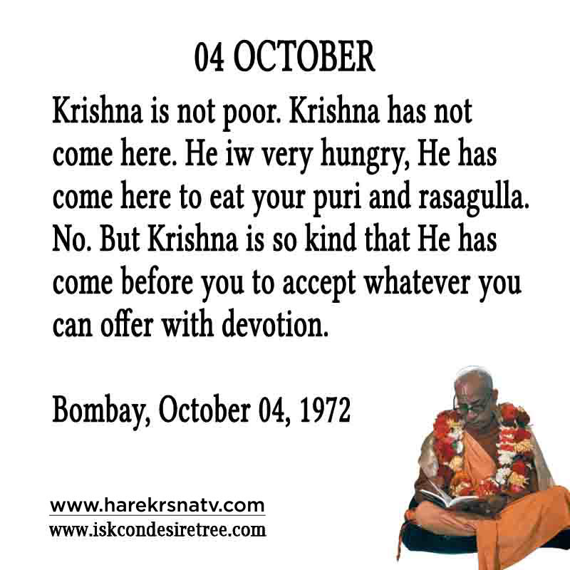 Prabhupada Quotes For The Month of October 04
